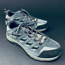 Columbia Mens Crestwood Low Waterproof Hiking Shoes Size 9 Gray Quarry Rusty