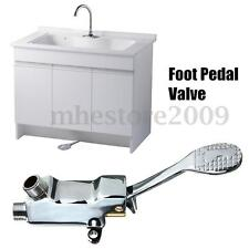 floor foot pedal control switch valve faucet copper basin single cold water tap - Commercial Kitchen Faucets