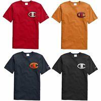Champion Life Men's Short Sleeve Heritage Tee, Floss Stitch C Logo T-Shirt