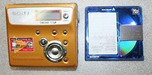 SONY NET MD MZ-N505 TYPE-R GOLD WALKMAN MINIDISC RECORDER w/ 1 80 min. MiniDisc