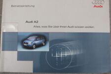 """AUDI A2  Betriebsanleitung """"Dez. 2000"""" Bedienungsanleitung Handbuch"""