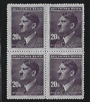 MNH Stamp block / Adolph Hitler / 20KR / 1942 German Occupation / Third Reich