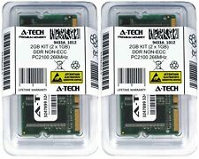 A-Tech 2GB 2 x 1GB PC2100 Laptop SODIMM DDR 266 MHz 200-Pin DDR1 2100 Memory RAM