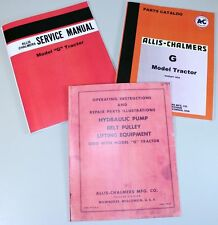 ALLIS CHALMERS G TRACTOR SERVICE PARTS MANUAL SET REPAIR SHOP BOOKS TECHNICAL