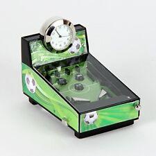 CALCIO Tema Flipper MACCHINA Orologio in Miniatura in cromo brillante, Verde e Nero