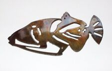Humu Triggerfish  Metal Wall Art Decor small copper/bronze plated