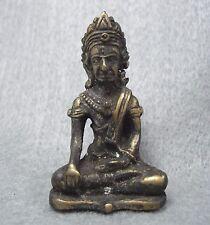 """Antique """" Phra Kring Chaiwat Jom Surin """"  Amulet Thailand Buddha Rare Bronze"""