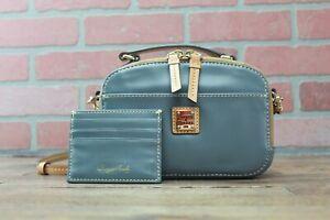 *Dooney & Bourke Wexford Smooth Leather Ambler Crossbody Grey Handbag