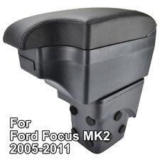 Black Leather Content Armrest For Ford Focus MK2 2005-2011 2006 2007 2008 2009