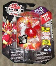 Bakugan Gundalian Invaders D2 Pyrus Blitz Dragonoid Bakudouble-Strike - NIB