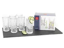 Crystal Highball Glasses Set of 6 Classical Stylish Tumblers Higher Glass 350 ml
