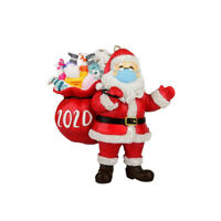 2020 Christmas Ornament Santa Wearing Mask in Quarantine Keepsake Unique Decor