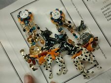 Statement runway vtg Lunch at the Ritz kennel club Dalmatian poodle earrings