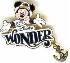 Disney Pin: DIsney Cruise Line DCL Disney Wonder Ship - Captain Mickey