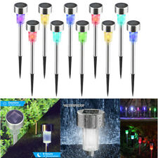 Outdoor Solar Power Color Change Path Lights Lawn Garden Waterproof LED Lamps