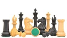 The Old Romeo Staunton Series Weighted Chess Pieces in Ebony & Box Wood