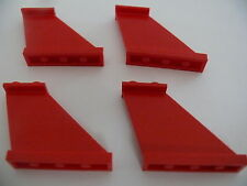 Lego 4 queues d avion rouges set 6939 6356 6923 6862 / 4 red tails