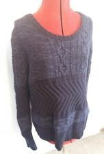 Men's Tommy Hilfiger Jumper Blue XL extra large cotton wool winter warm purple