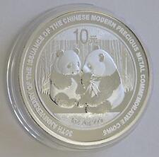 1 Unze Silber China Panda 2009 Jubiläum 30 Jahre Gedenkmünzen Silbermünze