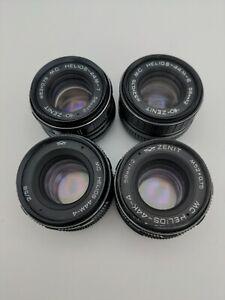 PARTS! 4x Helios 44M-4,6, 44k-4 44m-7 Soviet USSR  Lenses M42, K, FUNGUS, HAZE
