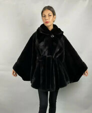 SAGA MINK FURS CAPE WITH HOOD