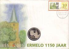 ENVELOPPE + POSTZEGEL + MUNT ERMELO 1150 JAAR (855-2005)