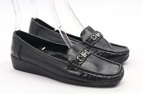 A S S Womens EU Size 39 Black Front Buckle Dolly Shoes