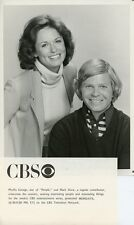 PHYLLIS GEORGE MARK SHAW SMILING PORTRAIT PEOPLE ORIGINAL 1978 CBS TV PHOTO