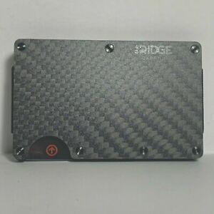 New Authentic Mens Ridge Wallet Carbin Fiber Design RFID Blocking Money Clip