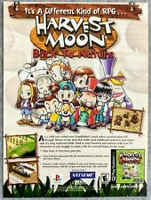 Harvest Moon Back to Nature PS1 | 2000 Vintage Game Print Ad Poster Art