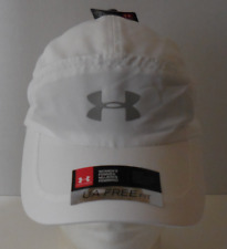 UNDER ARMOUR Women's UA Free Fit 2.0 Running Hat/Cap Color White Size OSFM