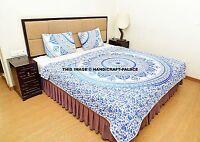 Indian Mandala Duvet Quilted Quilt Handmade Bedding Reversible Queen Blanket Set