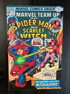 Marvel Team-Up #41 VF Bronze Age comic featuring Spider-Man MVS intact!