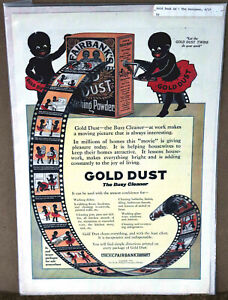 Antique Fairbanks Gold Dust Washing Powder Porcelain Sign & Movie-theme Advert