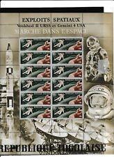 EXPLOITS SPATIAUX-Voskhod II URSS et Gemini 4 USA-MARCHE DANS L'ESPACE-MNH