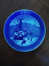 """Royal Blue 1967 Royal Copenhagen Denmark Collectible Plate """"The Royal Oak"""""""