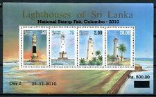 Sri Lanka 2010 Block 61 I Leuchttürme mit Aufdruck Colombo Postfrisch MNH