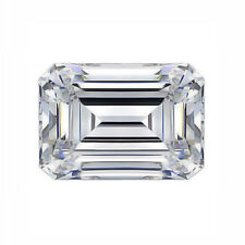 9 X 7 Mm 2.25 Carat Full White Emerald Diamond Cut Loose Moissanite for Ring