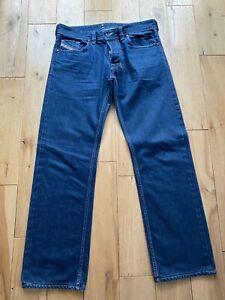 Mens DIESEL Larkee Jeans W33 L31 Blue Regular Straight Wash 008BZ (2)