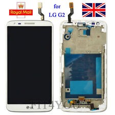 New For LG G2 D802 LCD Display Touch Digitizer Screen Assembly With Frame White