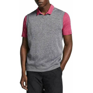 NEW Nike Dri-Fit Tech Golf Sweater Vest AV5225-063 Men's Size M Heather Gray