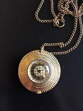 Retro Vintage Ladies Fob Watch on Chain Gold Coloured