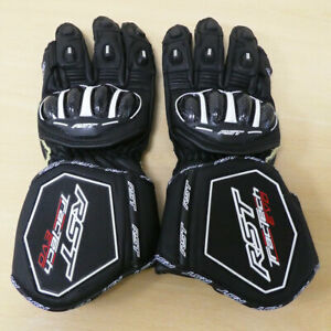 RST Tractech Evo 4 CE Leather Motorbike Motorcycle Gloves - Black - M