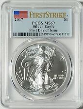 "2017 Silver Eagle -- ""Near Perfect"" PCGS MS69 - First Strike Label -- NO RESERVE"
