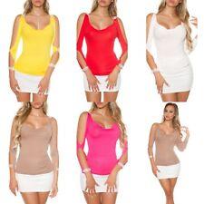 Ladies Party Going out Off Shoulder Top Blouse Casual T Shirt size S M L XL