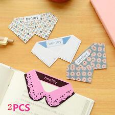 2Pcs Creative Plastic Cute Collar Shape Paper Clips Bookmark Notebook