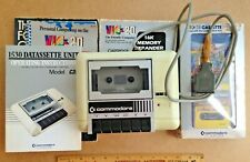 A VIC 20 Commodore Computer Datassette Unit + Guide, Software, Memory, & Book!