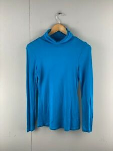 Old Navy Womens Aqua Vintage Long Sleeves Turtle Neck Pullover Top Size Small