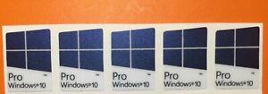 5 pcs Windows 10 Pro violet fade Blue color GLITTER SPARKLE sticker 16mm x 23mm