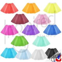 Girls Tutu net Petticoat Underskirt 2 layers Circle skirt White Band Dance wear